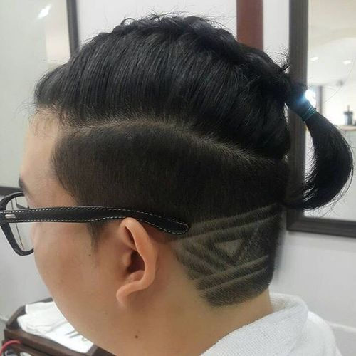 Asian Male Braid with Design
