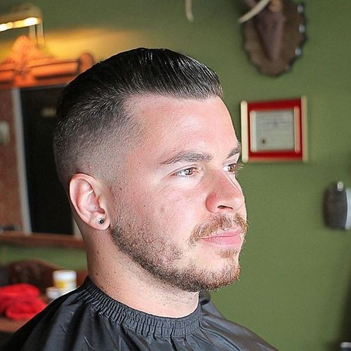 High and Tight Style for Balding Men