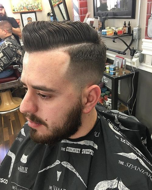 Glorious Side Parted Pompadour