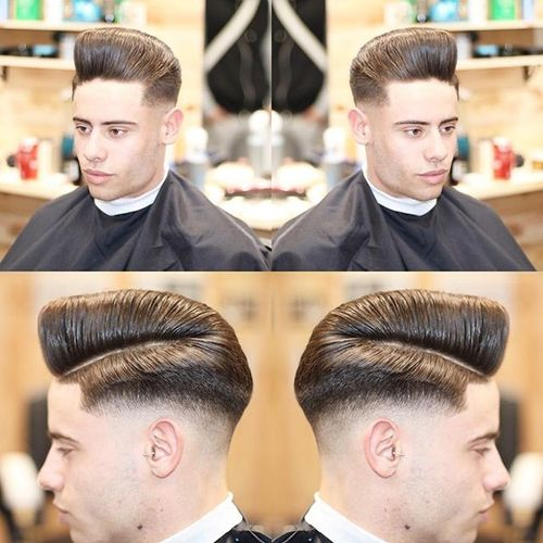 Captivating Side Parted Pompadour