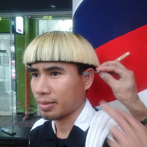 Bowl Hairstyle with Modern Twist for Asian Men