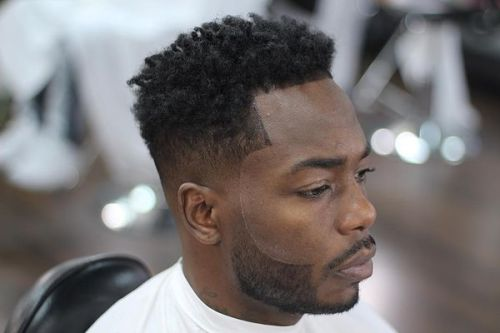 black men taper haircut