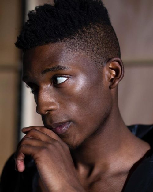 faux hawk haircut for black men