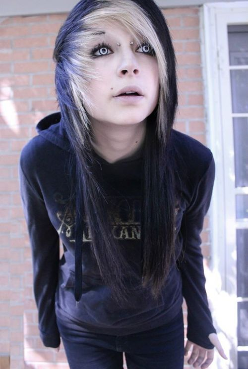 emo side fringe hairstyles