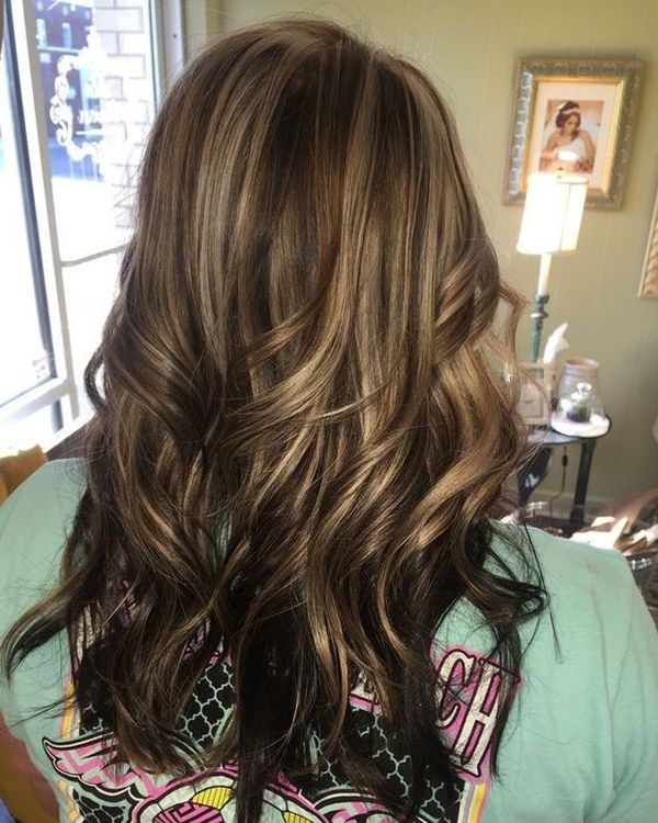30 brown hair with highlights the classic way of the dark and fair caramel highlights on the brown hair pmusecretfo Images