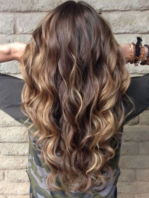 The shaded blonde highlights for the light brown hair