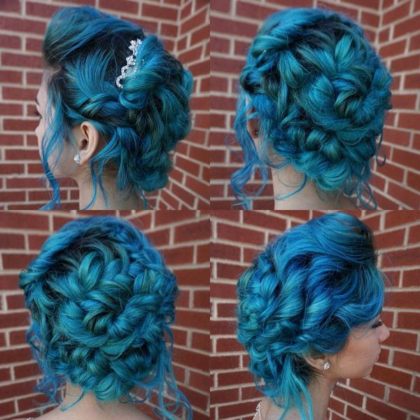 Mermaid blue braids