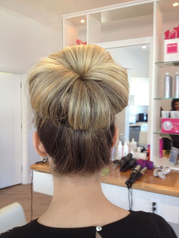 Vintage high bun updo