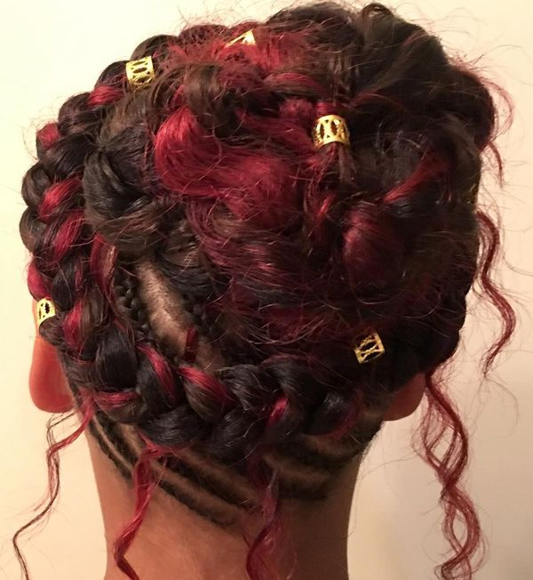 Halo-Shaped Crochet Style on Mini Braids Base