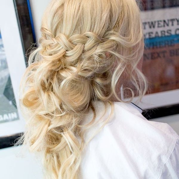 Sleek-Up-Messy-Down Bridal Hair