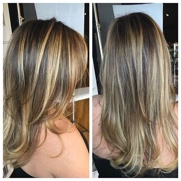 Fine Hair Blonde Balayage Coloring
