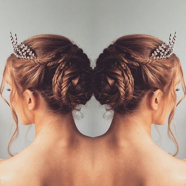 Side Braided Ponytail - Side View