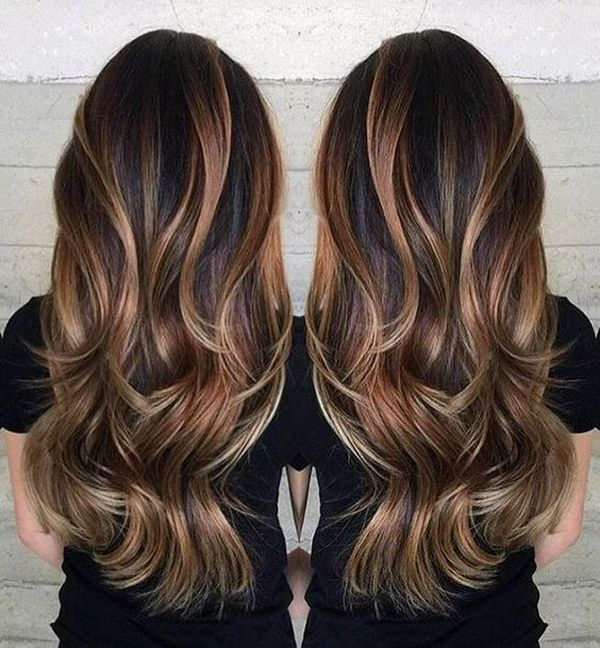 30 brown hair with highlights the naturally rich brown hair with dark natural blonde highlights on the thick hair urmus