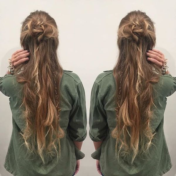 Messy Braids Bohemian Hair