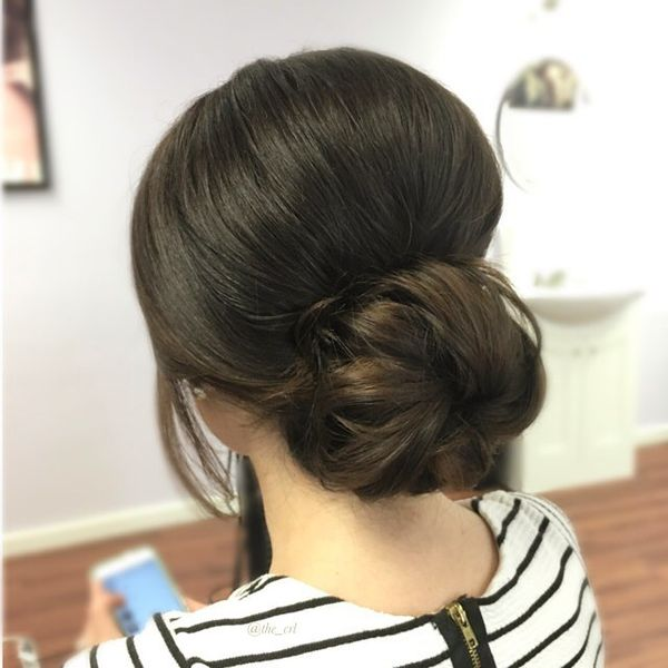 Chignon with Slick Bouffant Upstyle