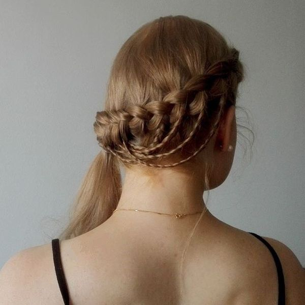 Relaxed Braided Ponytail Style