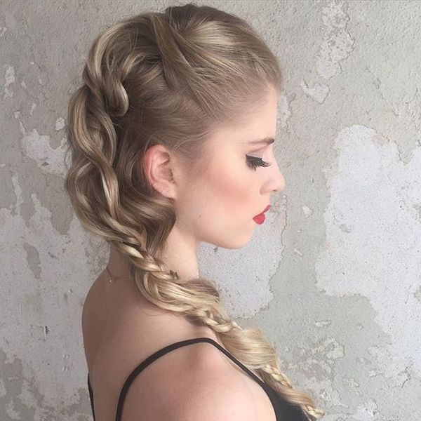 Long Mohawk Disconnected Braid