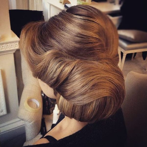 Elegant Big Bun Hair-Up