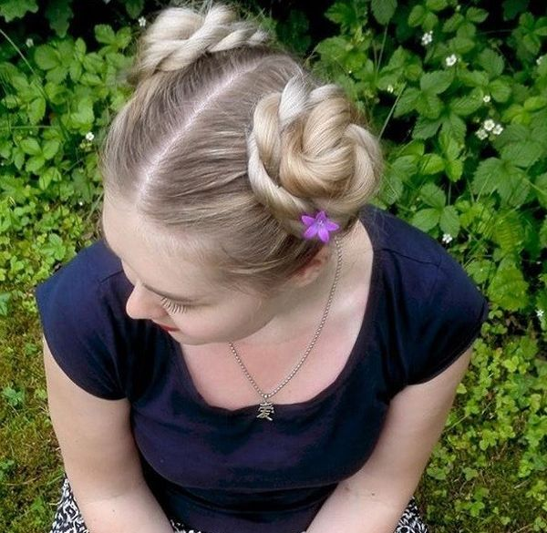Rope-Braided Buns Fun