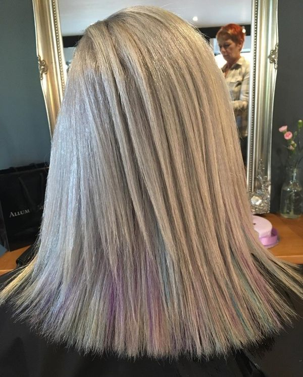 Pastel Layered Perfection with Rainbow Tips
