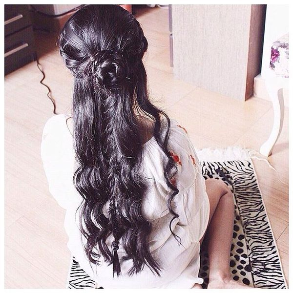 Beautiful Half-Up with Braided Design