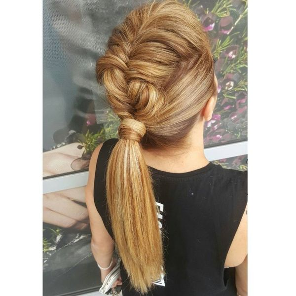 Mohawk Braided Ponytail