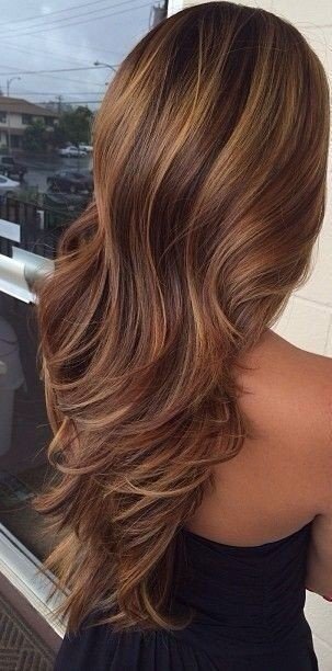 30 brown hair with highlights the shaded lowlights and highlights on the brown caramel hair pmusecretfo Choice Image