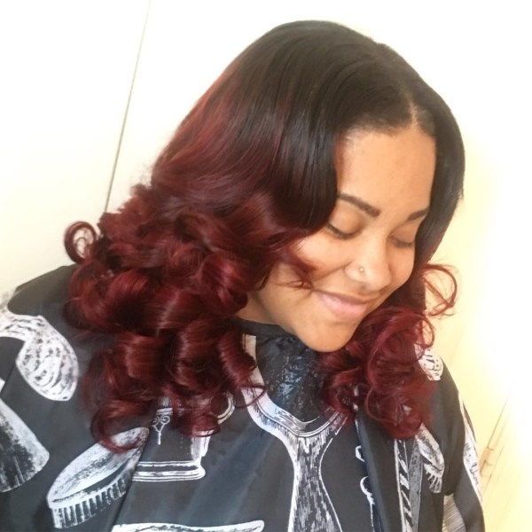 Cherry red curls