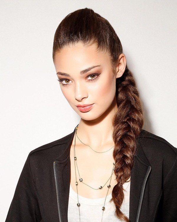 Conventional three strands braid