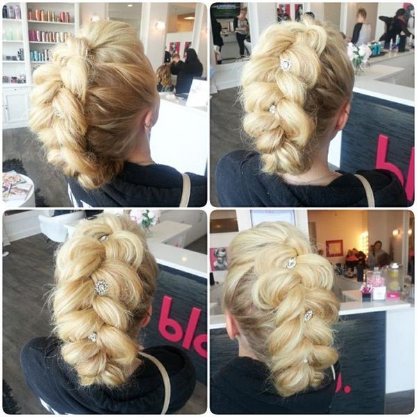 Huge braid with adornments