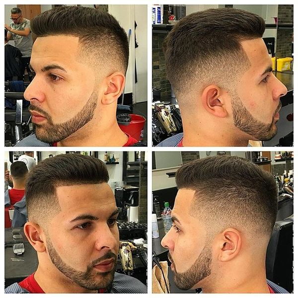 Slicked Back Sharp Fade
