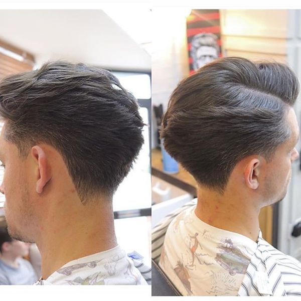 Sides up Top down Hairstyle