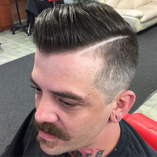 Side-Parted But Fresh Men`s Cut