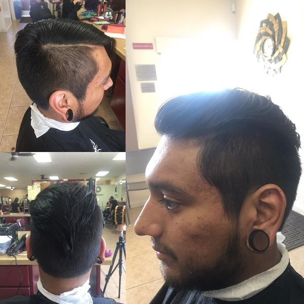 Striking Look With Undercut Sides And Back