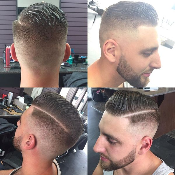 Vintage Cut With Modern Fade And Part