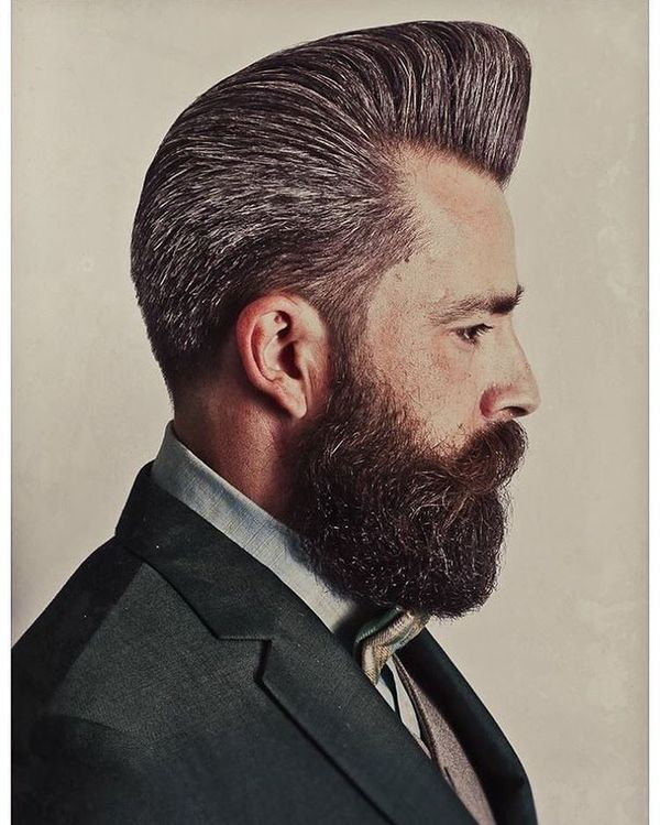 Rockabilly hairstyles for guys greaser haircuts for men nice pomp for dark grey hair urmus Images