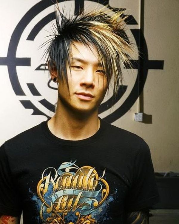 30 Crazy and highlighted spiky hairstyle