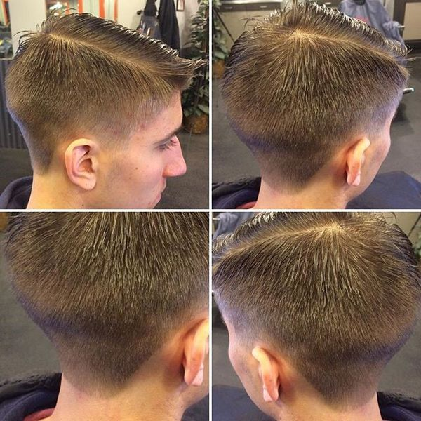 Low Fade with Natural Part