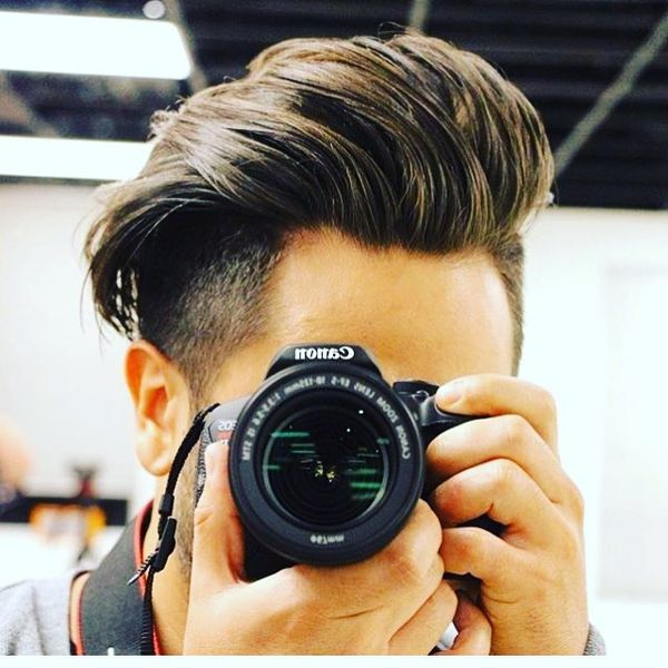 Long Sleek Back Undercut Style