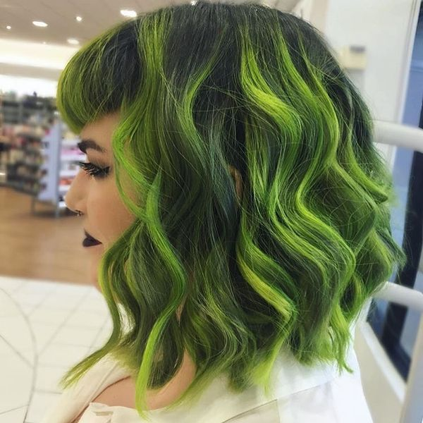 Bright Dyed Wavy Hair1
