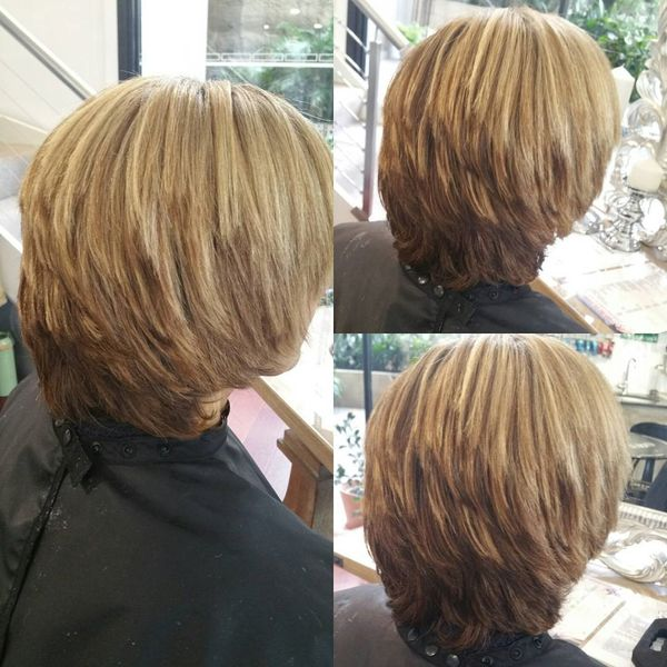 Cool Cascading Bob for Blondes0