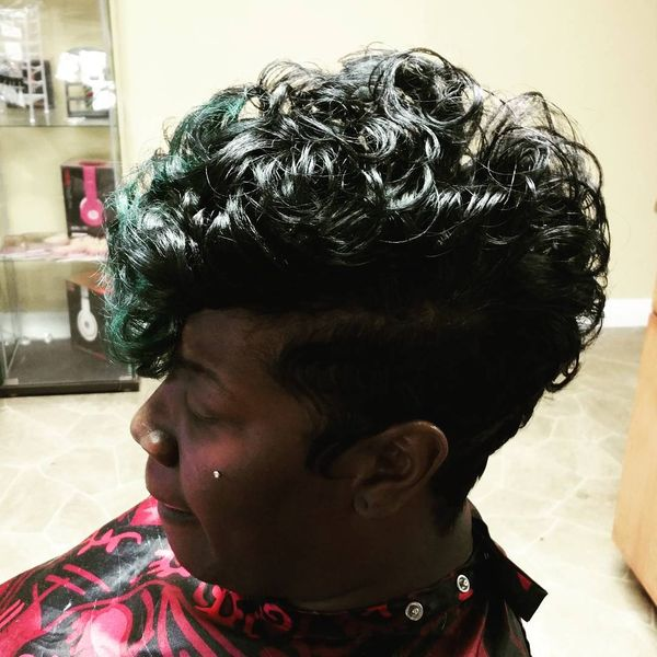 Curly Mohawk Tapered Cut2