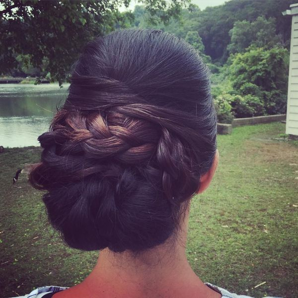 Gorgeous Chignon with Braids