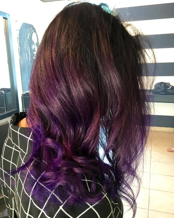 Shining Purple Ombre Hairstyle