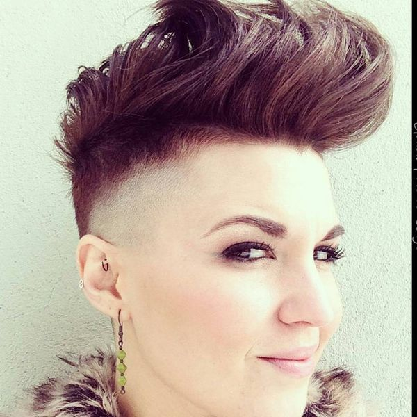 Trending Mohawk Undercut in a Natural Brown1