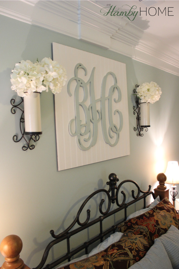 diy beadboard monogram wall art the hamby home