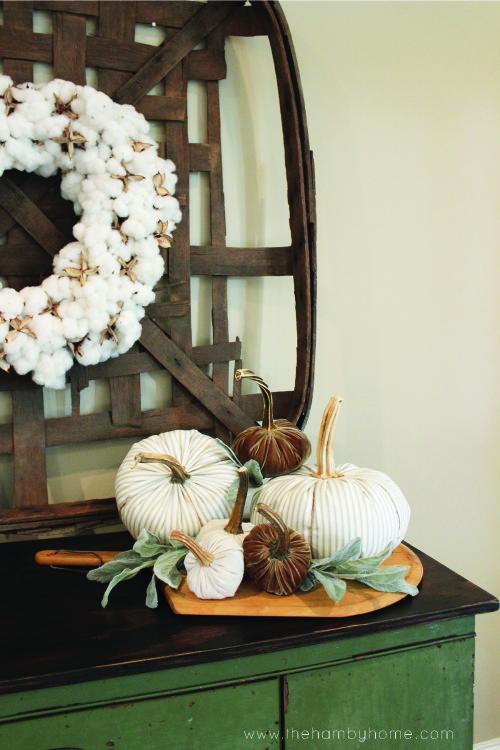 ticking-stripe-and-velvet-pumpkin-vignette