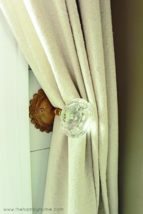 DIY Bow Tied Dropcloth Curtains3