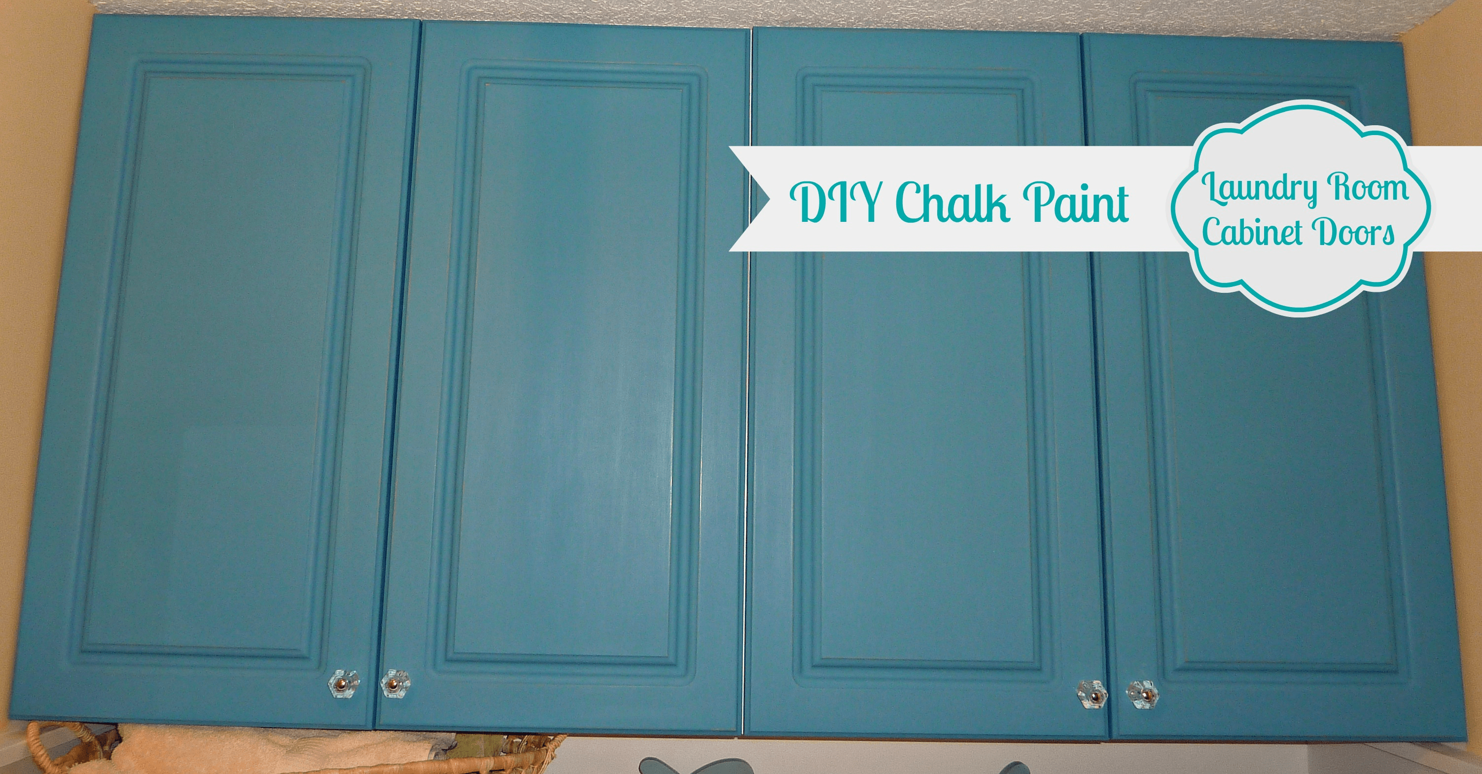 diy chalk painted doors the love affair continues turquoise kitchen cabinets DIY Chalk Paint Laundry Room Cabinet Doors 2
