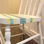 dipped n striped diy chalk paint chair after side at thehappyhousie